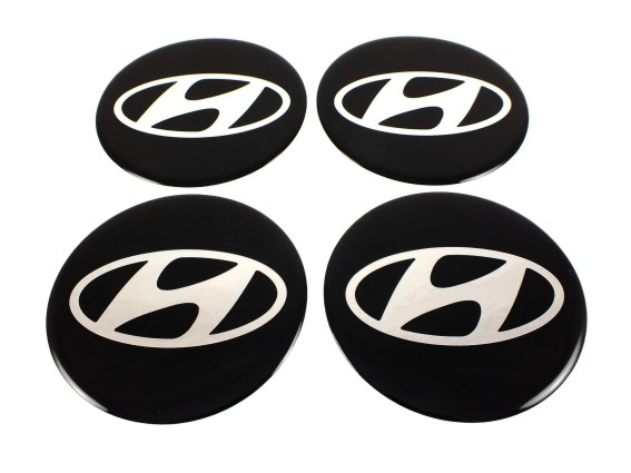 hyundai 4 st ck silikon 55mm aufkleber emblem. Black Bedroom Furniture Sets. Home Design Ideas